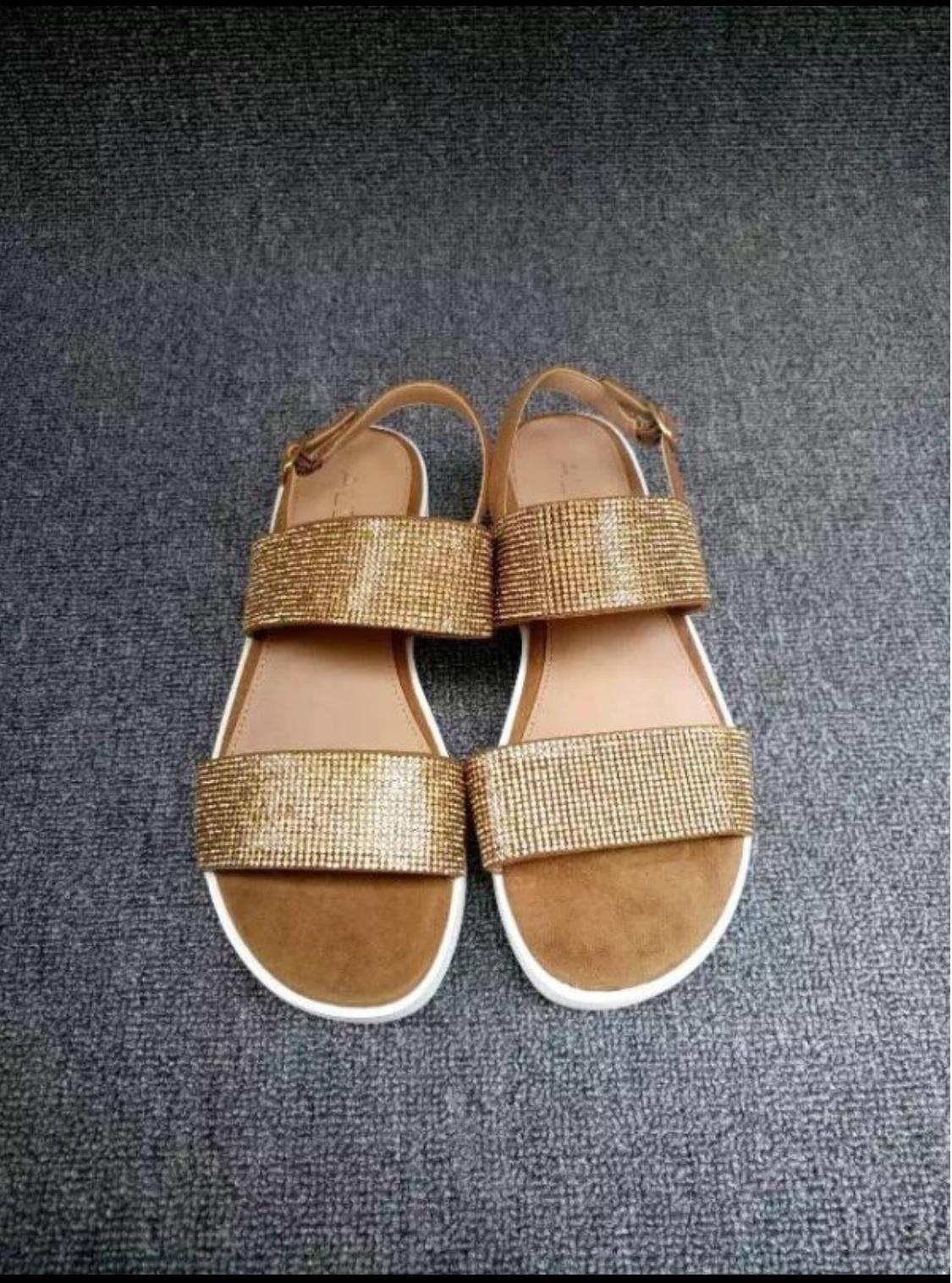 SALE - ALDO Eowenna Rhinestone covered Leather Sandals ...