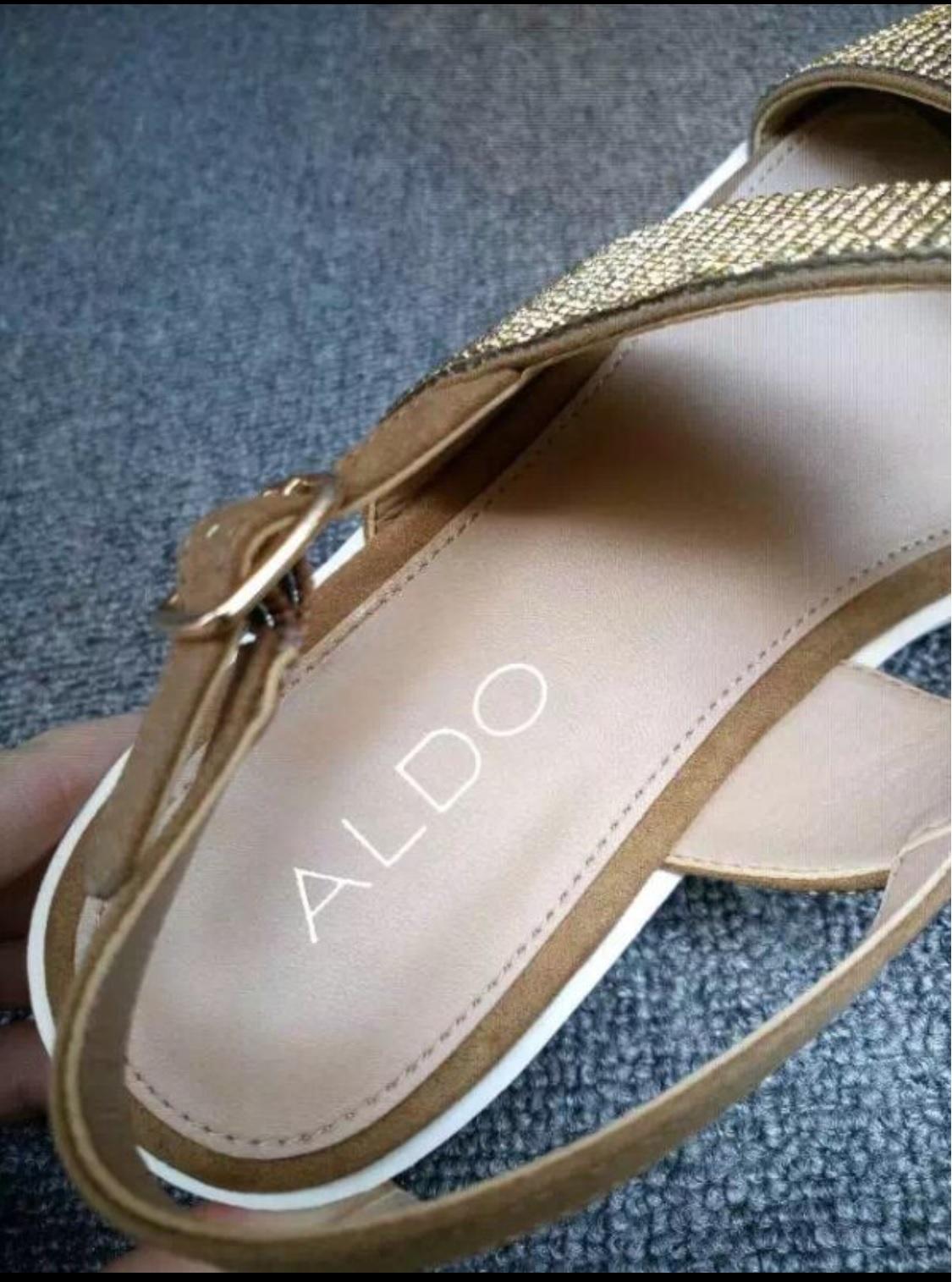 08c1c3b55 SALE - ALDO Eowenna Rhinestone covered Leather Sandals ...
