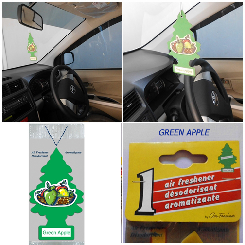 8Little Trees terbuat dari bahan pilihan dan mampu memberikan aroma segar di mobil Anda