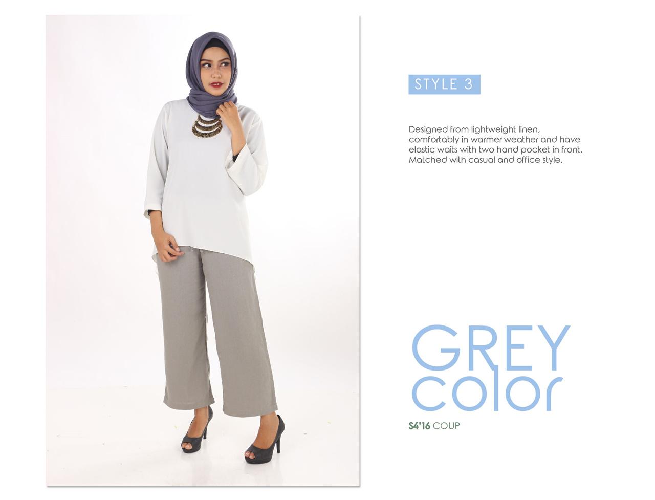 Coup S4 Women Classic Long Stripes Kulot Celana Panjang Men Bermuda Pendek Pria Korean Brand Hijab Look
