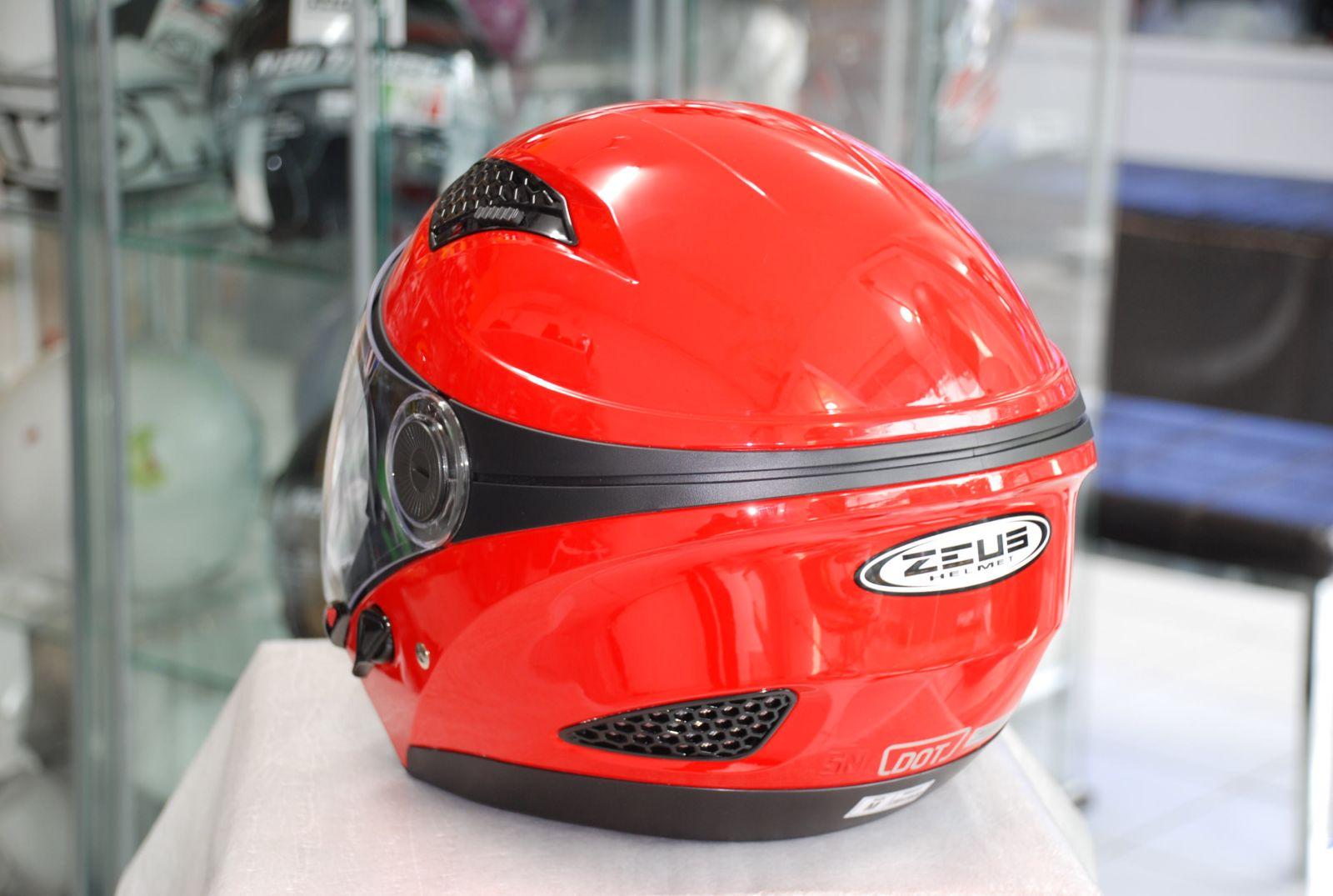 Buy New Zeus Z 610 Stripe Helmet Half Face Double Visor Deals For Helm Zs Glossy Silver