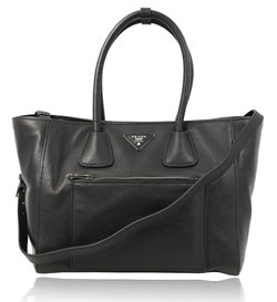 3e10cb2ad81e82 PRADA VITELLO DAINO SHOPPING BAG Model: BN2795 Colour: Bluette