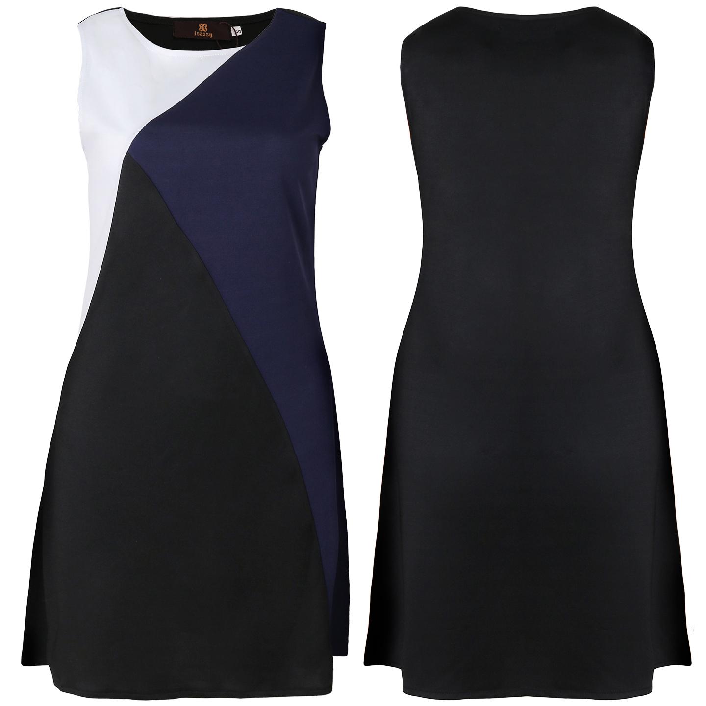 Black dress qoo10 - Fwc0186 Three Color Stitching Dress