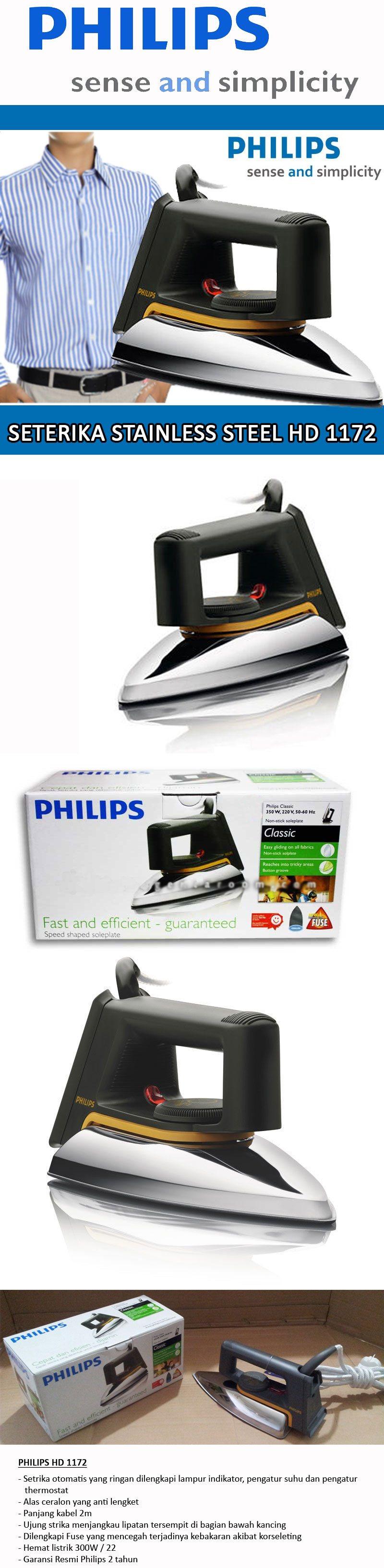 Buy Philips Seterika Hd 1172 Dan Hi 115 Special Discount Toko Setrika Philip