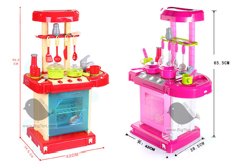 Buy best deal educational toy pretend play kitchen for Little girl kitchen playset