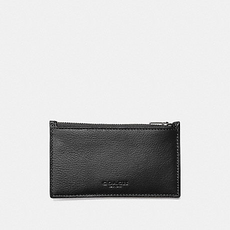 8f5a2710fe OPTION 01   F29272 - ZIP CARD CASE WALLET - BLACK Smooth calf leather