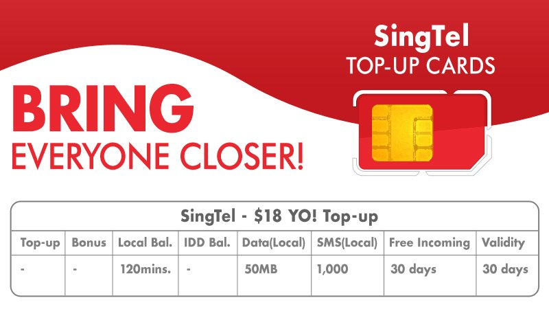 singtel top up