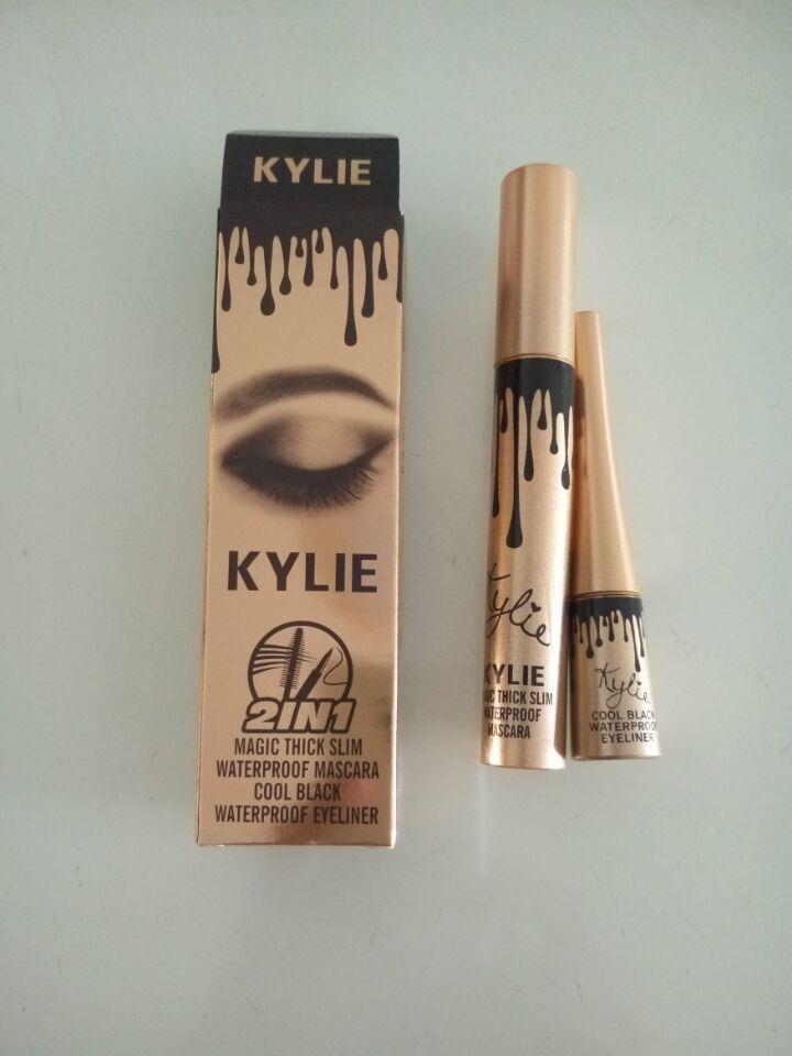 8c49b59eb96 Kylie jenner 2 in 1 Black Waterproof Eyeliner Liquid Eye Liner Pen Pencil  Makeup Beauty Cosmetic