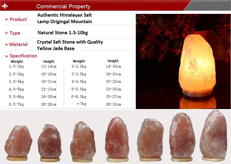 Himalayan Salt Lamp 6-7Kg with Dimmer Switch and Marble Base / Air Purifier / Natural Ionizer ...