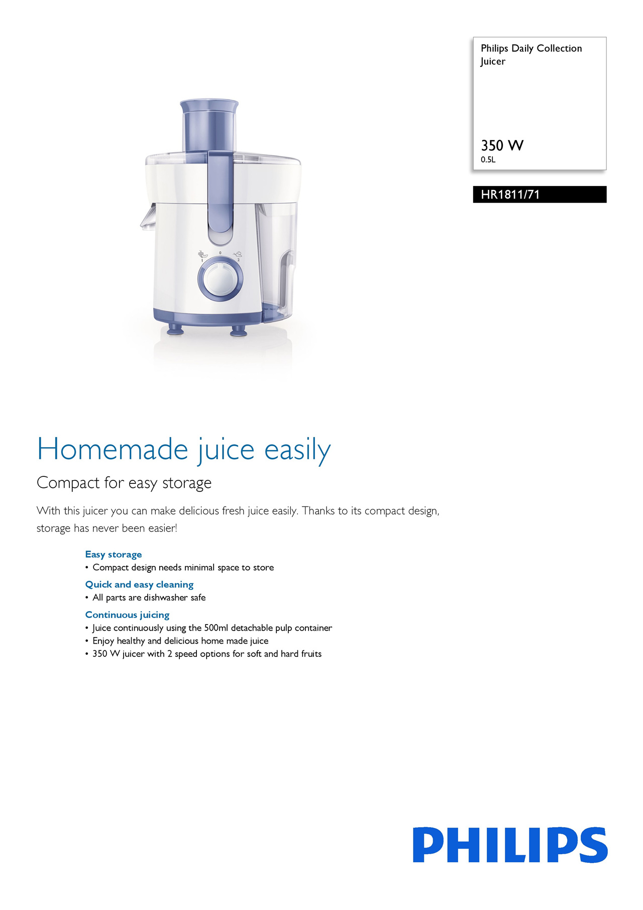 Every Need Want Day Philips Juicer Extractor Hr1811 1 Year Local Warranty