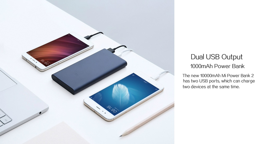 New Xiaomi power bank 2 10000mAh can