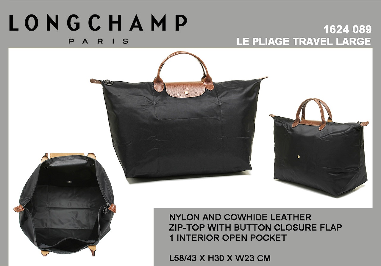 1624 SERIES LE PLIAGE TRAVEL LARGE SHORT HANDLE NYLON BAG