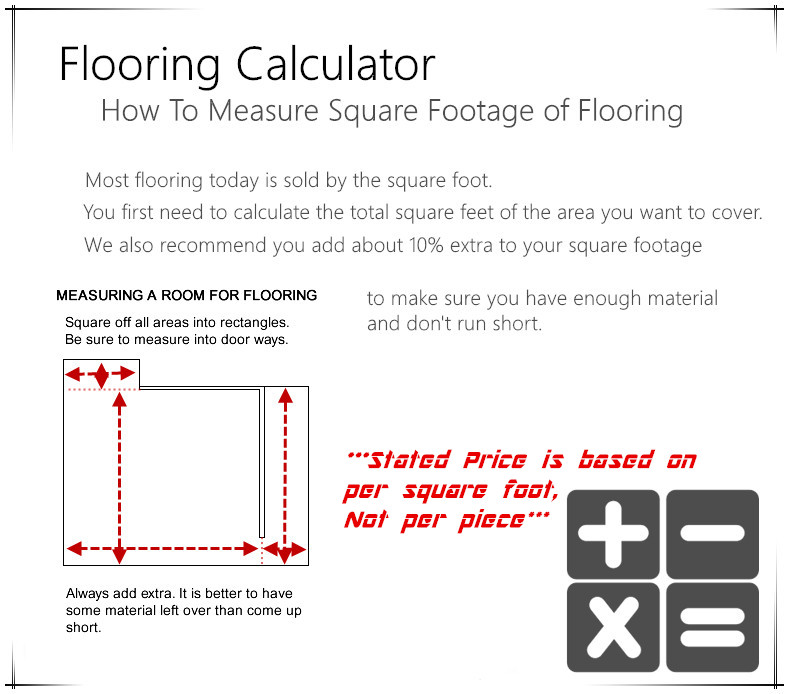 How to calculate tile needed for floors