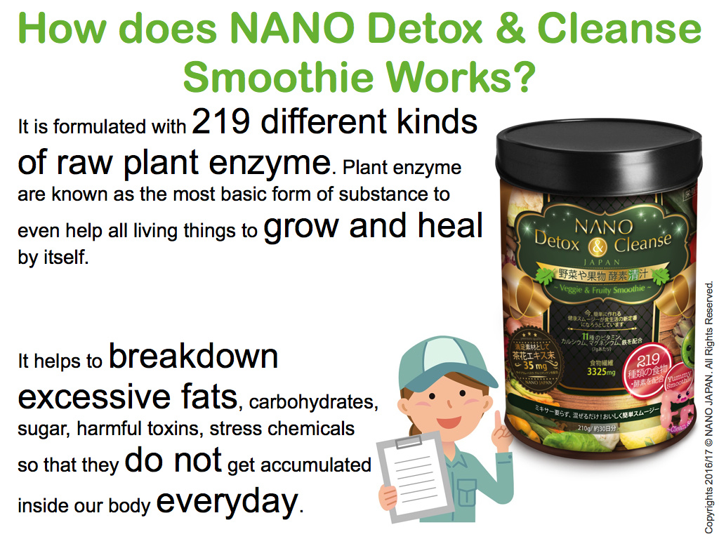 NANO DETOX WEIGHT-LOSS •24hr FLUSH •219 ENZYME MADE IN ...