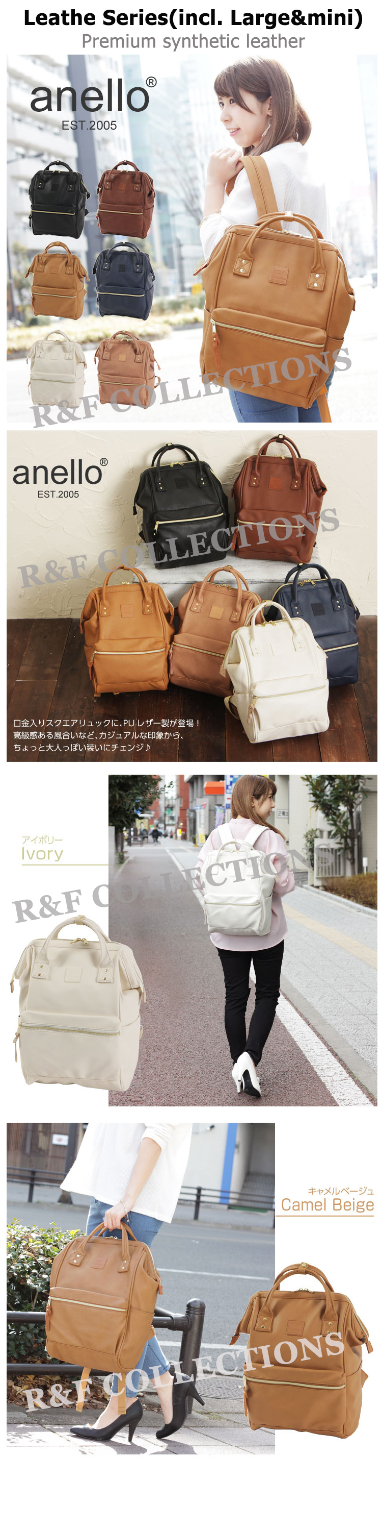 ... take note that some inferior material leather version anello backpack  is selling with quite lower price in Qoo10 SG b6c4ba09c2eb2