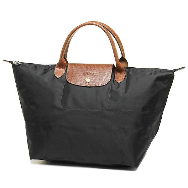 LE PLIAGE MEDIUM SHORT HANDLE NYLON BAG BLACK 001