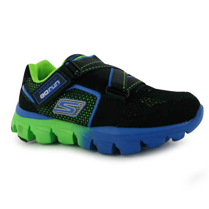 Neon Green and Black Trainers   Sketchers Trainers   Cushioned insole    Lightweight and flexible   Padded ankle collar   Lightweight design   Flex  grooves   ... 74164fa8825a