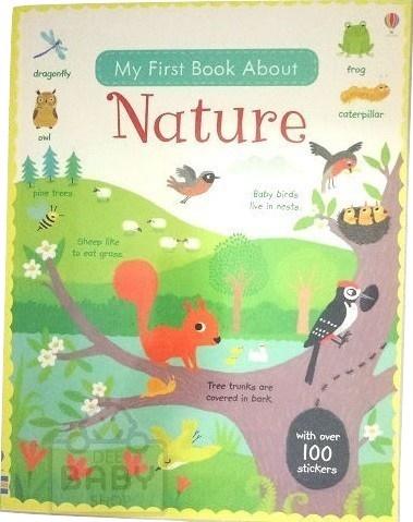 first sticker book nature first sticker books