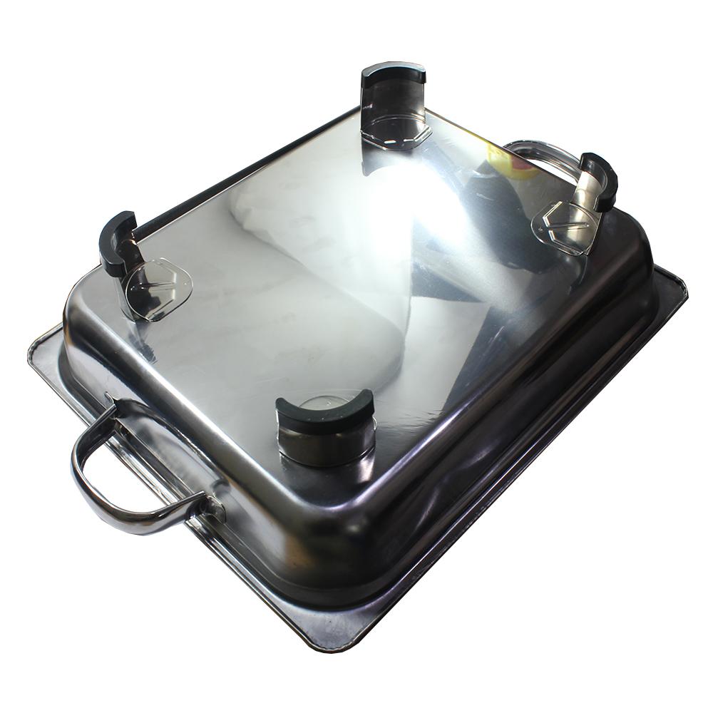 555 SA tempat makan prasmanan terbuat dari bahan stainless steel sangat cocok digunakan sebagai tempat hidangan