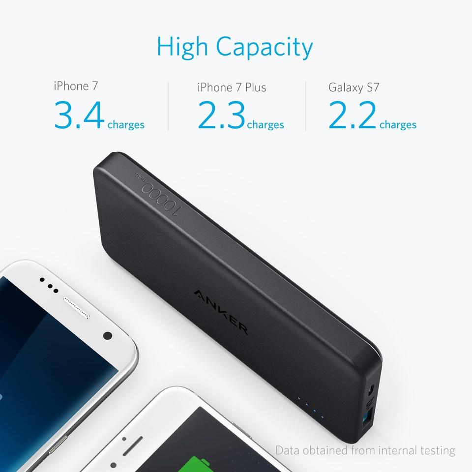 Buy Anker Portable Powerbank Usb Charger Lightning Cable Car Samsung Galaxy S9 Free Mah 10000 Purple Powercore Ii Slim Poweriq 20