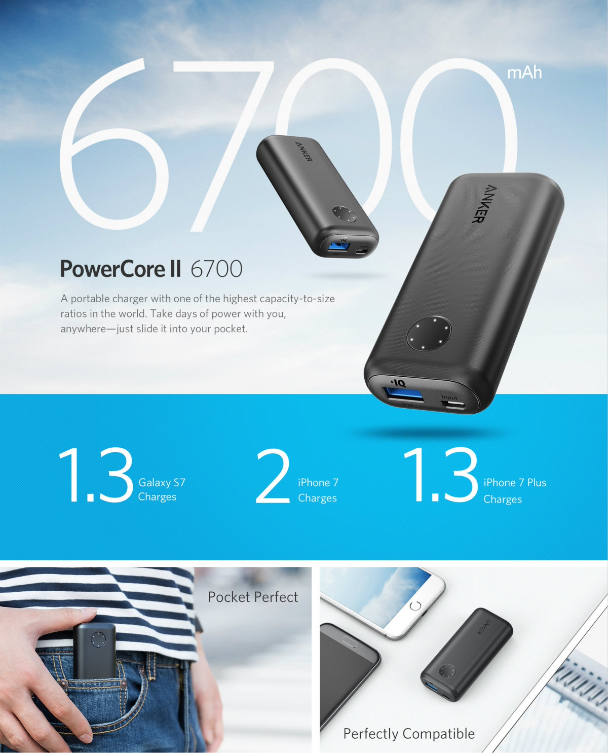 Buy Anker Portable Powerbank Usb Charger Lightning Cable Car Samsung Galaxy S9 Free Mah 10000 Purple Astro E1 6700mah