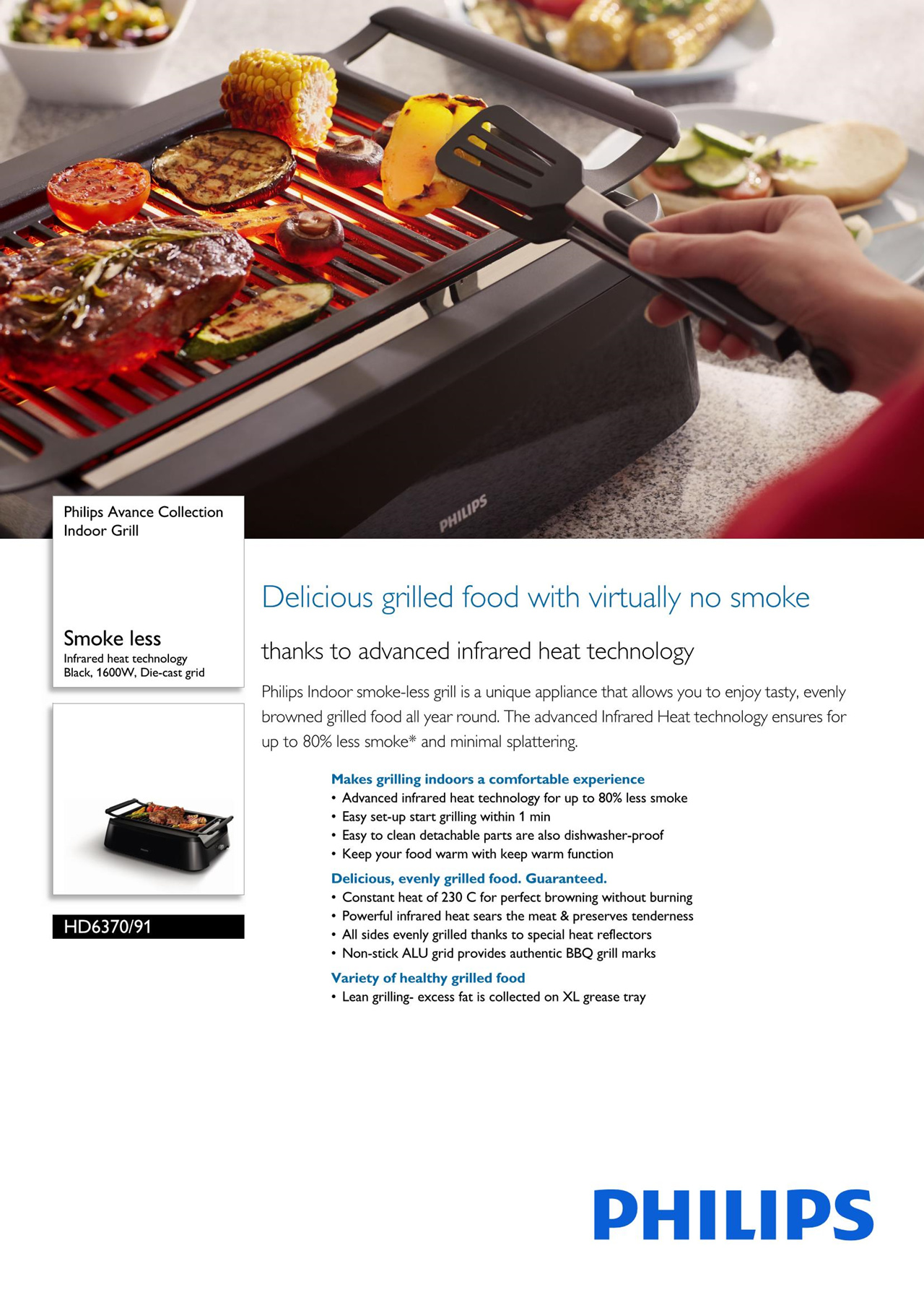 Buy Philips Avance Collection Indoor Grill Deals for only S$499 ...