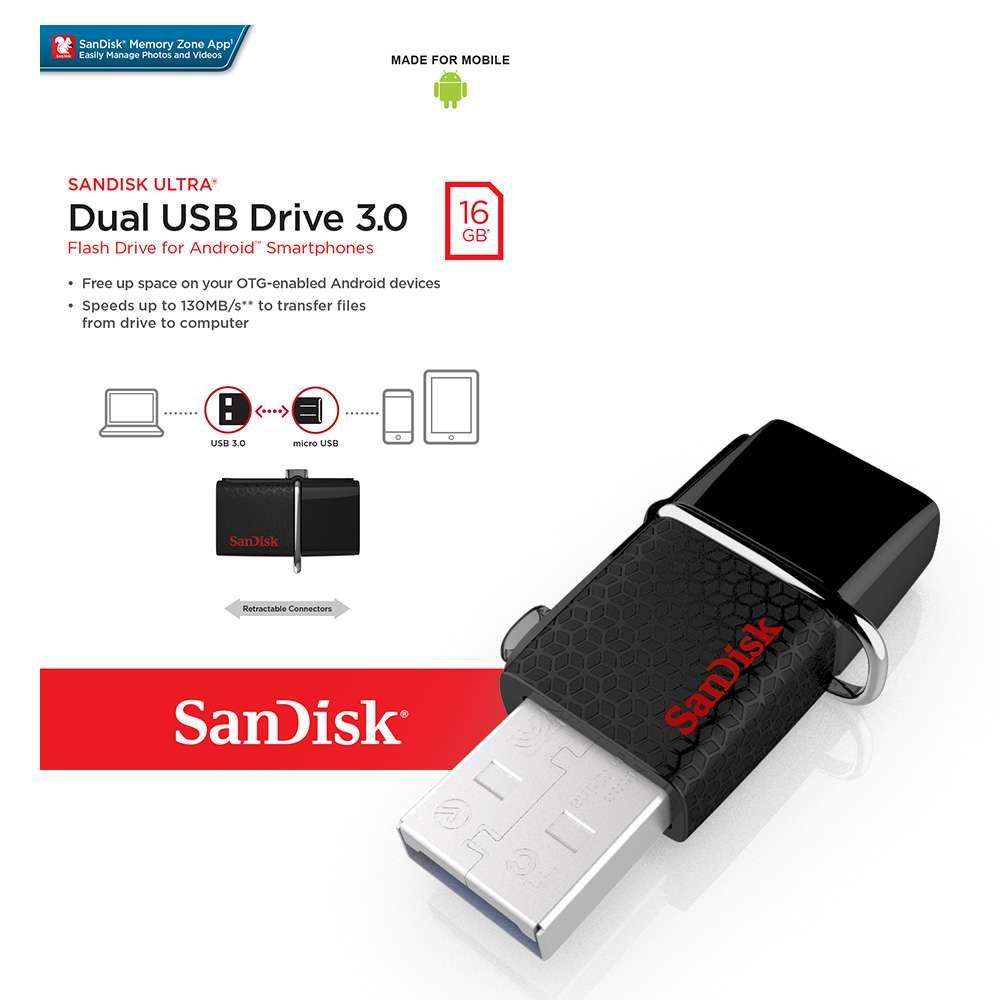 Buy Deal Original Flashdisk By Kingston Sandisk 30 16gb Deals Ultra Cz48 Flash Disk Usb Dual Drive