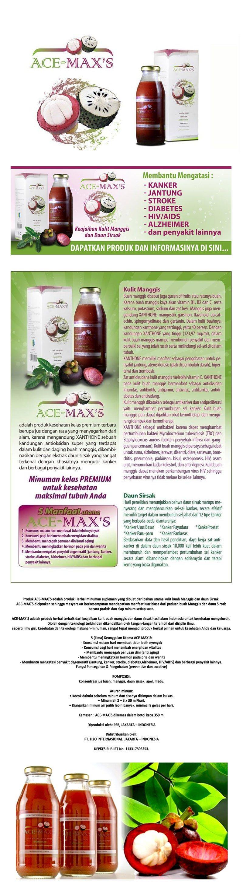 Buy Ace Max Original 100 Garansi Uang Kembali Deals For Only Rp119 Maxs Ekstra Kulit Manggis Dan Sirsak Adalah Produk Obat Herbal Alami Terbaik Dari Perpaduan Buah Daun Hasil Alam Indonesia Untuk Kesehatan Menyeluruh