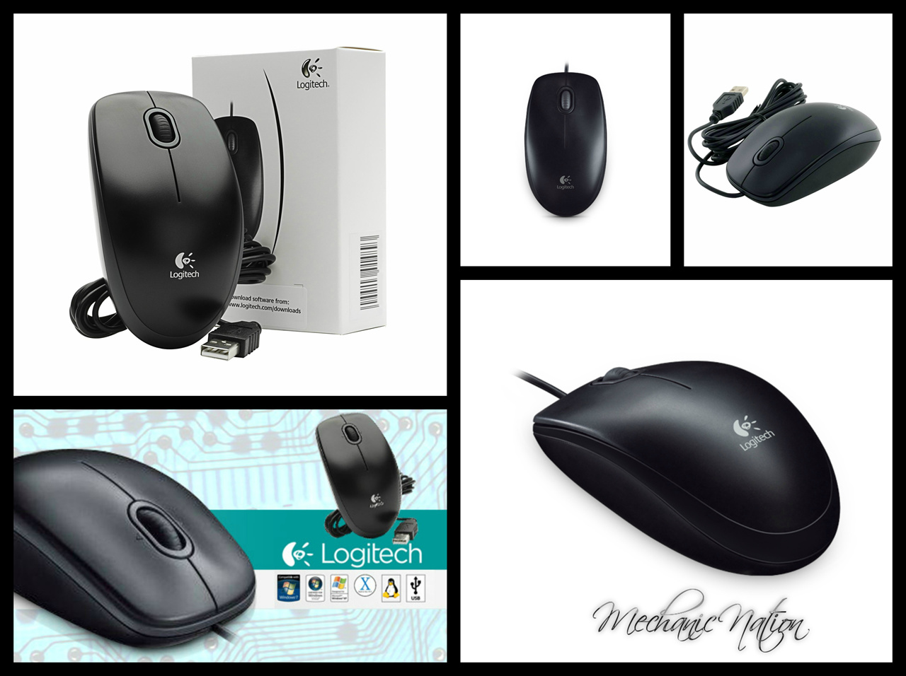 Every Need Want Day Mouse Usb Logitech B100 Model
