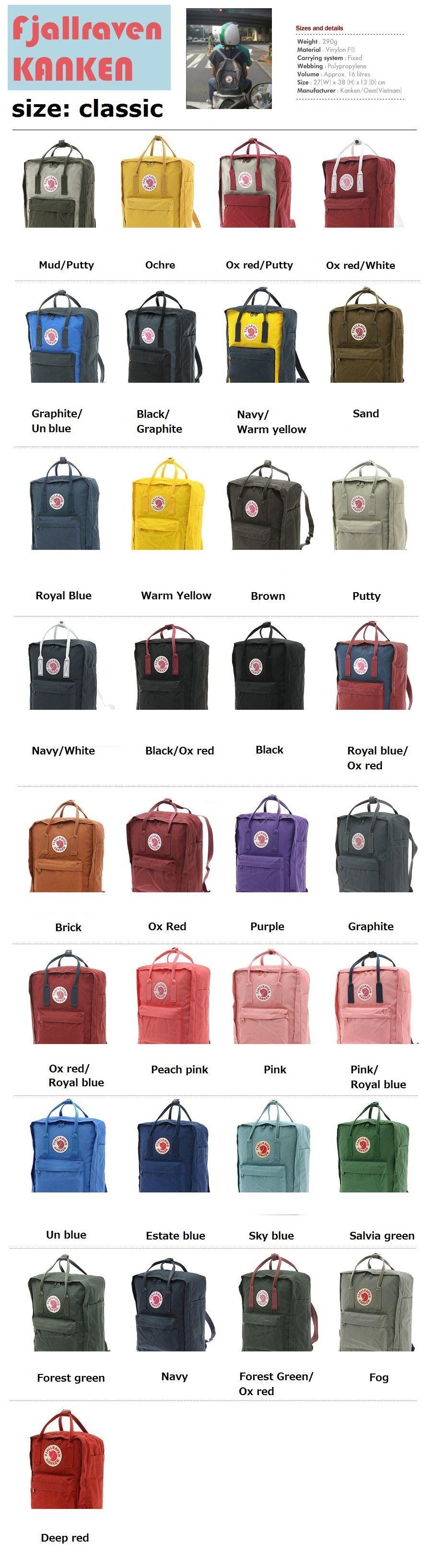 Buy Kconcept? FJALLRAVEN Kanken Authentic Steady Seller Kanken Bag! Kanken  classic backpack SALE PRICE!!two tone colors 30 colors!! New color