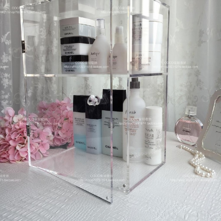 Berucci Clear Acrylic Jewelry Makeup Cosmetic Organizer Holder