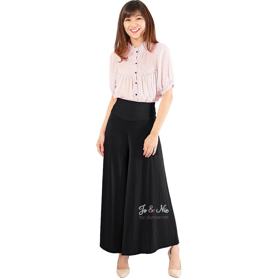 Jo Nic Casual Culottes With Waist Tie Celana Kulot Milo Daftar Midi Nda Fjn822b Buy