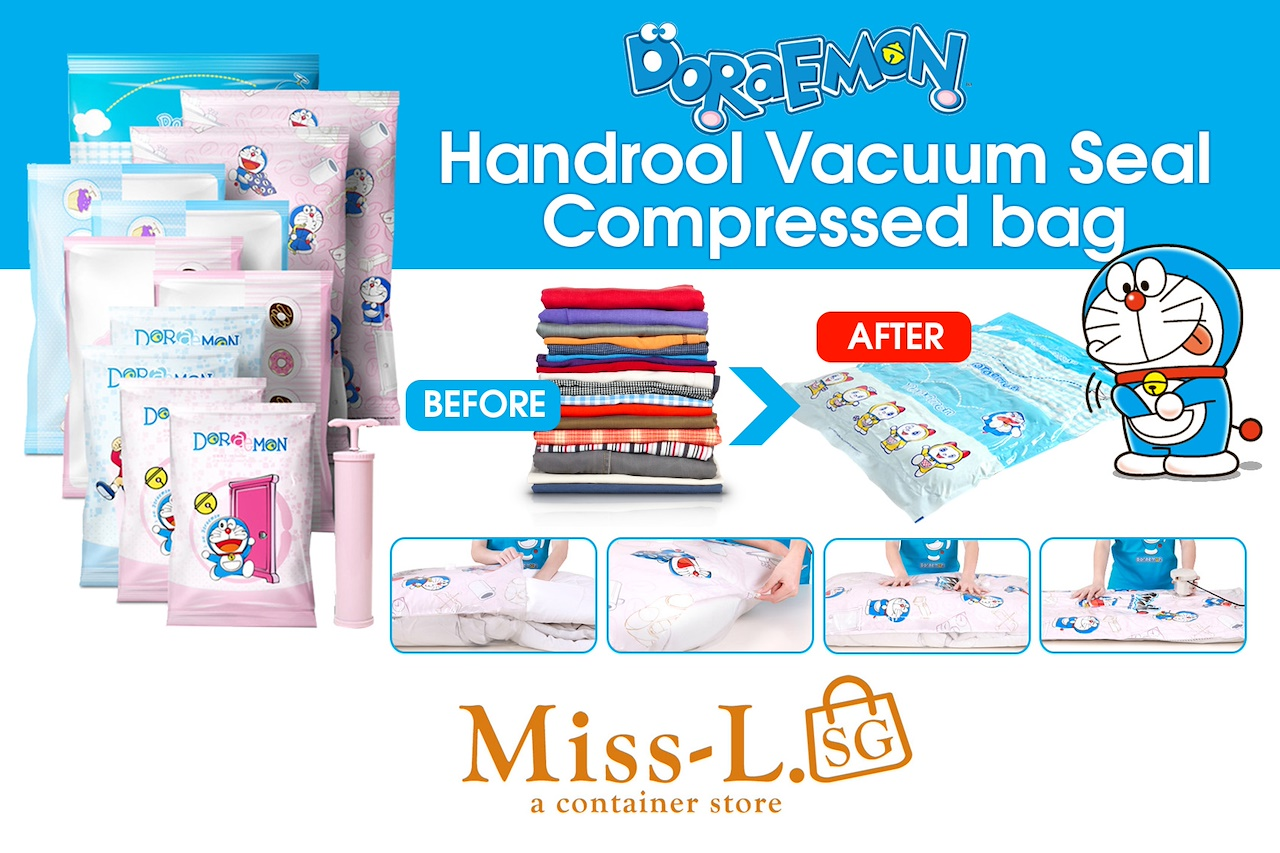 Storage Bag Vacuum Compressed Bags Hand Roll Seal Rolling