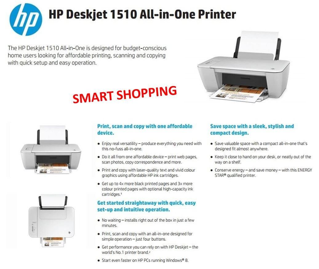 hp deskjet 1510 ink how to set up share