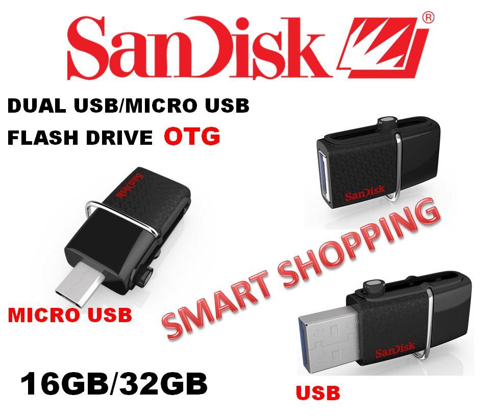 Buy Usb3 Latest Modelsandisk 32gb 16gb Dual Usb Drive Otg Pendrive Flashdisk Sandisk 32 Gb 16 Ultra