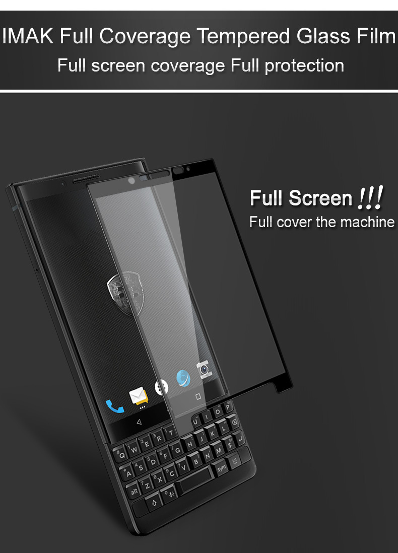 Every Need Want Day Blackberry Keyone Tempered Glass Full Cover Ampamp Curved Black Imak Screen Protector For Key2