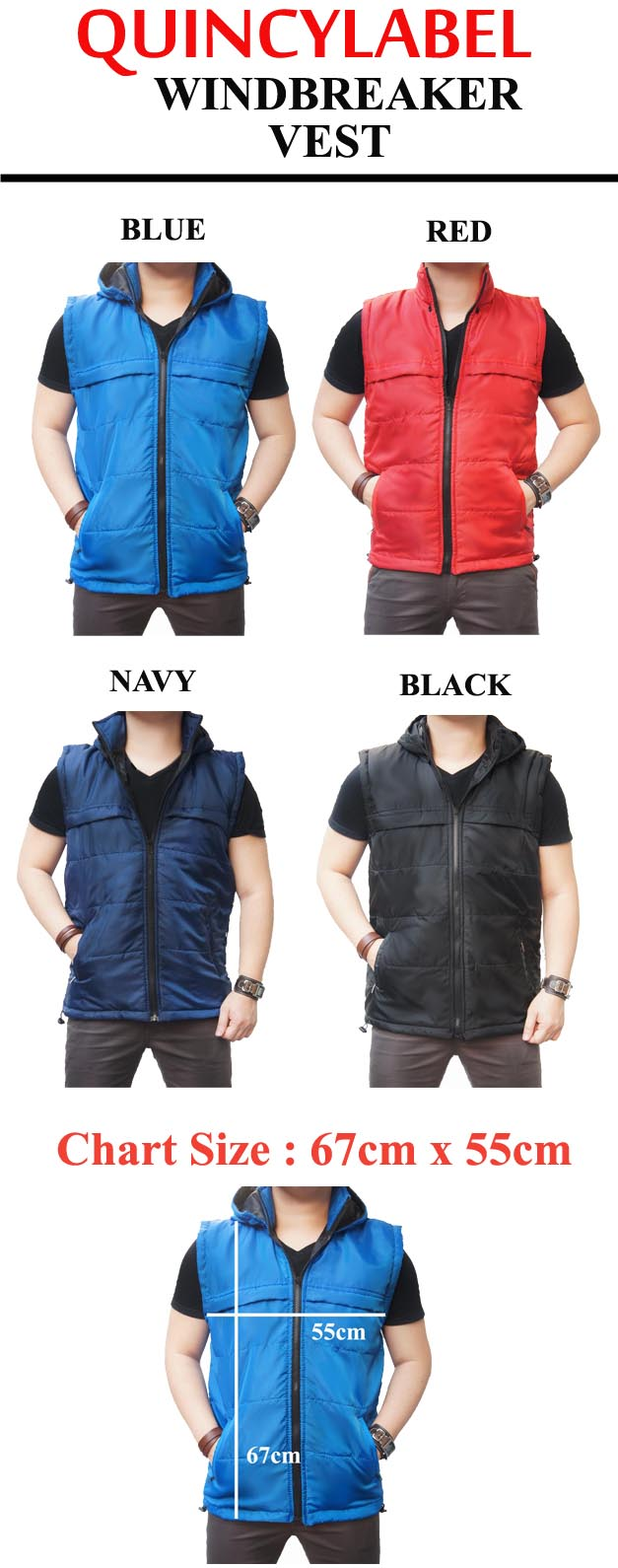 Buy Buy2freeshipquincylabel Windbreaker Vest Collection Jaket Sweater Unisex Pria Wanita High Quality Urgan Jacket