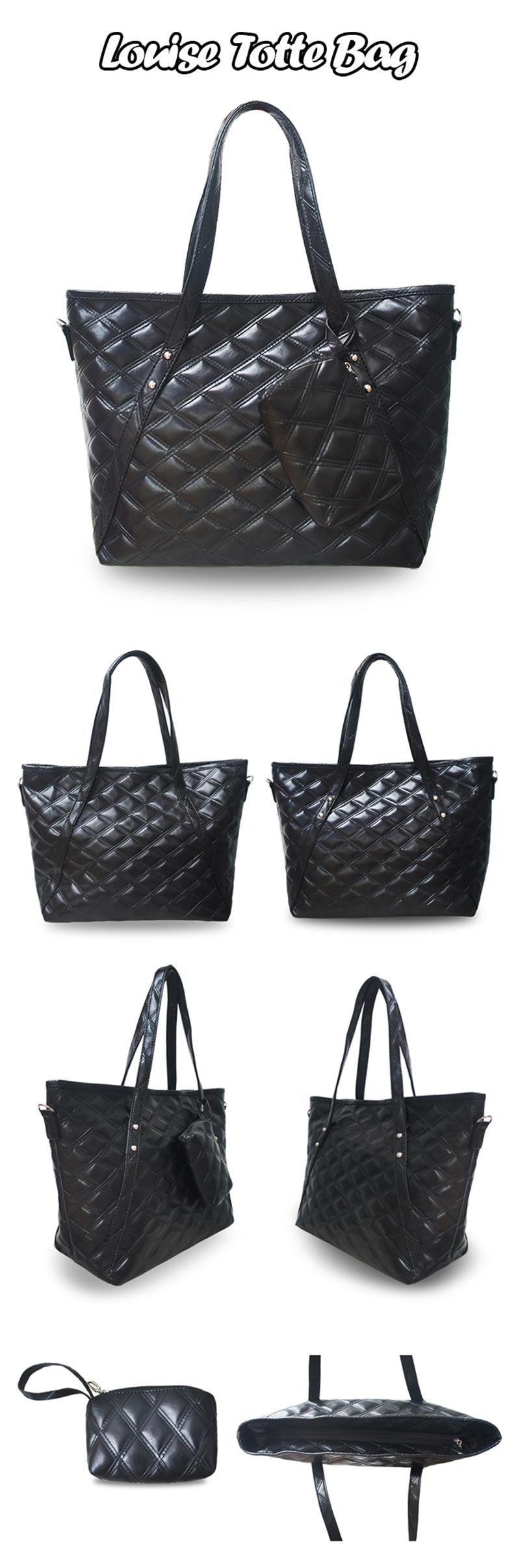 Quincylabel Tote Louise Bag Red Daftar Harga Terlengkap Indonesia Croco Himalayan Dark Blue Quincy Label