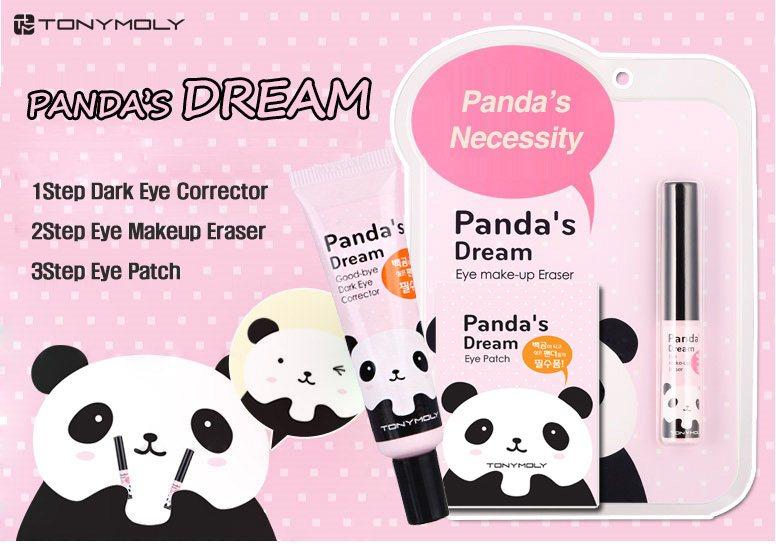 Tonymoly - Pandas Dream eye patch / Eye Corrector / Eye Makeup Eraser / Dark Circle care