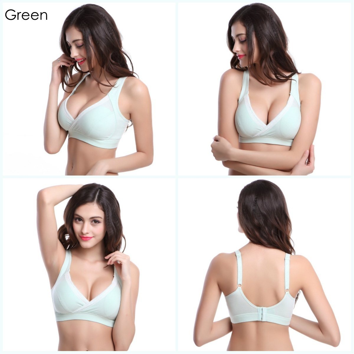 Cotton Lace Nursing Bra (Grey) | Lazada Singapore