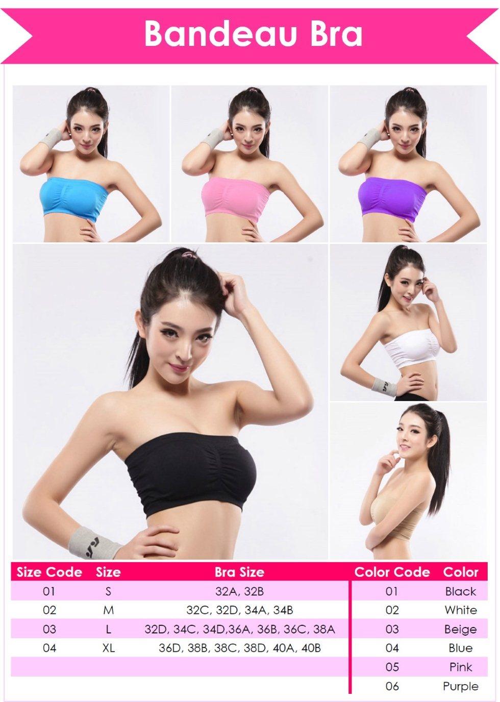 Bandeau Bra / Seamless Bra / ShopOnlineLah | 11street Malaysia - Bra