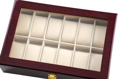 12 Slots Rose Wood Watch Storage Box | Starzdeals