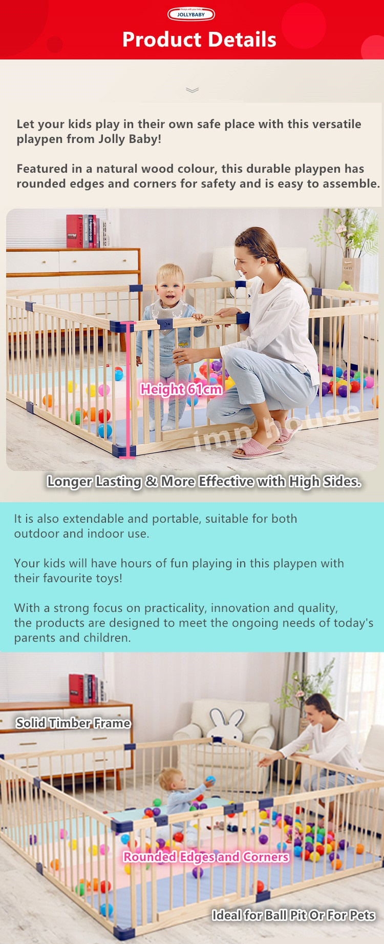 6pcsset Pet Play Fence Playpen Portable Panel Play Yard