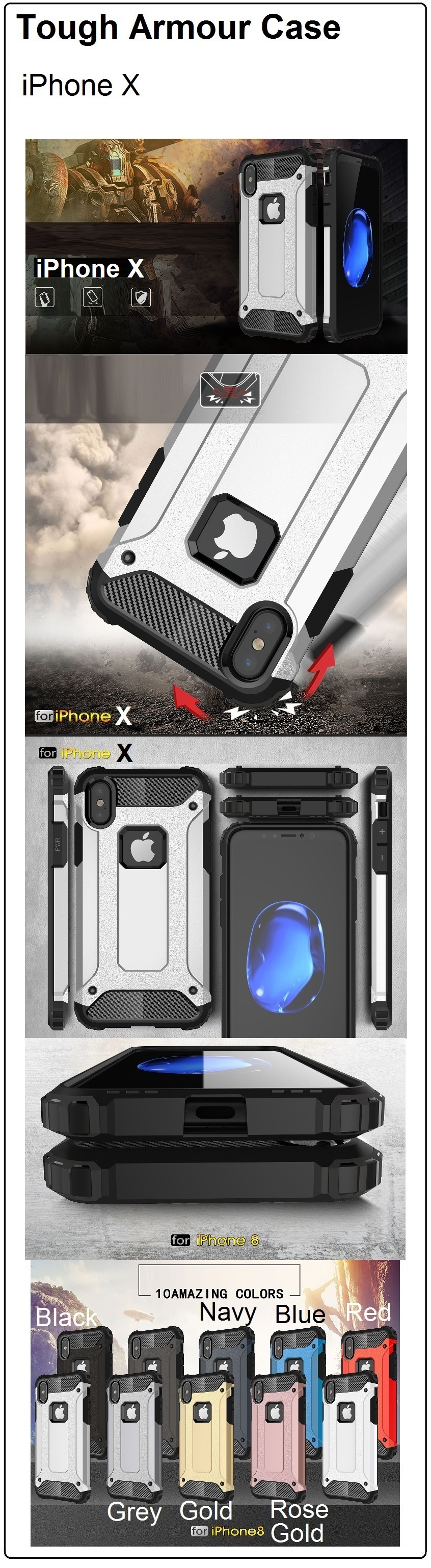 Buy Iphone X 8 Plus 7 Case 6 6s Goospery New Bumper Gold Purchase Of Any Casing From Our Store Comes With A Free Piece Screen Protector Worth 499