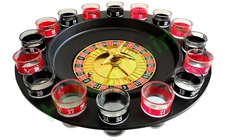 Spin and shoot shot glass roulette rules