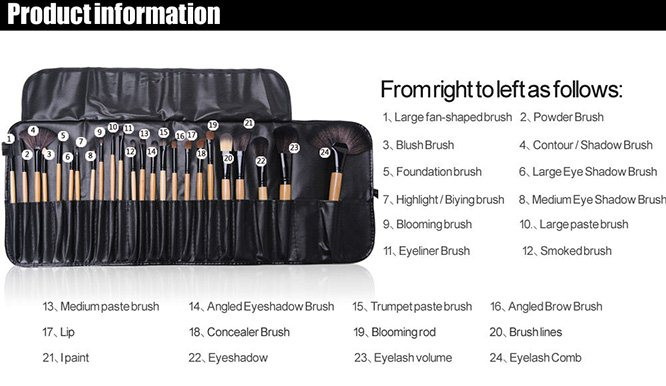 high quality 24 different brushes for different functions, prefect for professionals or home use.