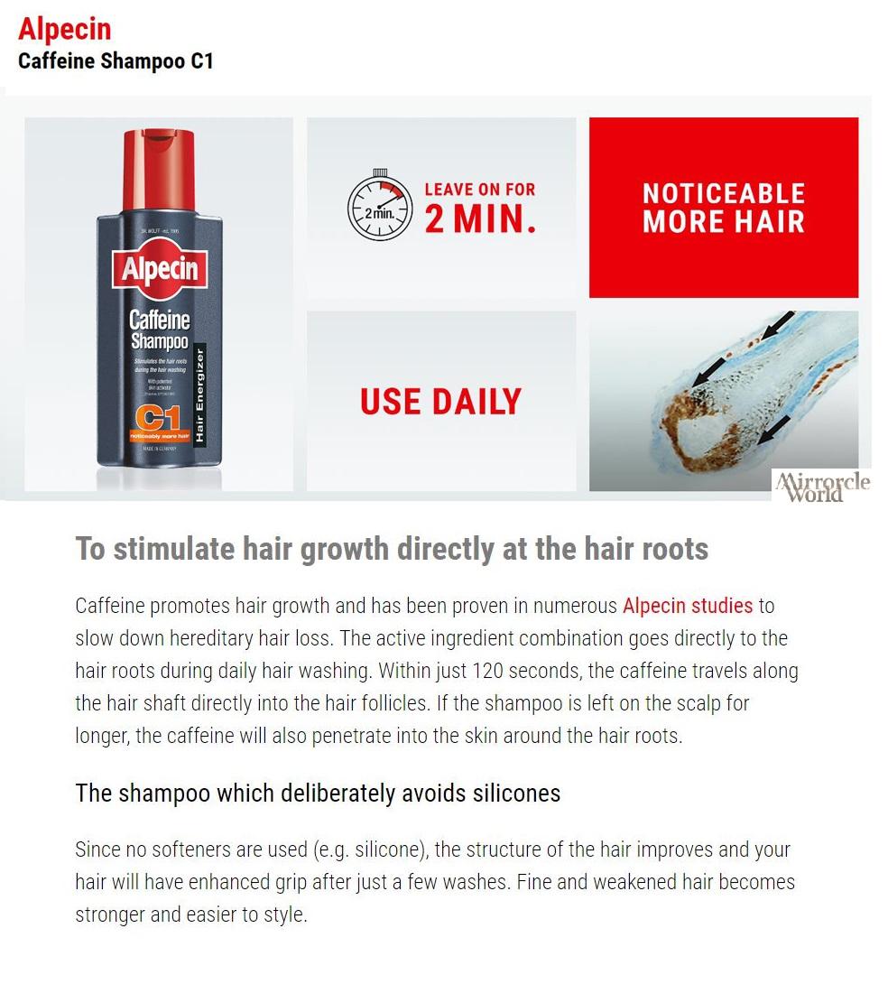 Every Need Want Day Alpecin C1 Caffeine Shampoo Hair Loss International