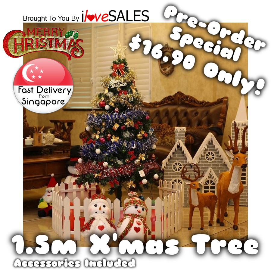 Buy Full Size Christmas Tree Complete With Decor Xmas