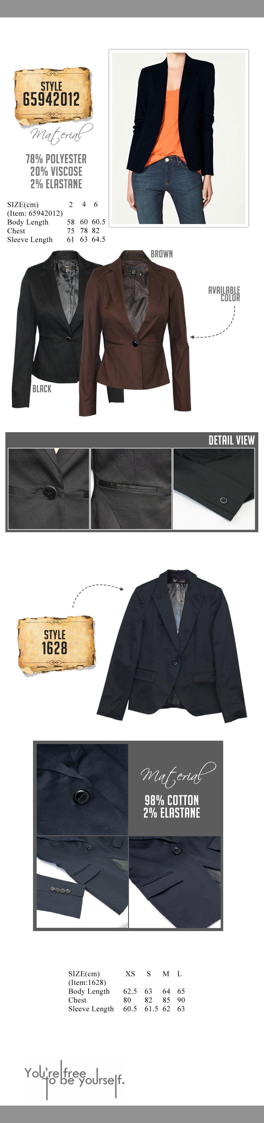 Every Need Want Day Fashion Trendy Blazer Slimfit Korea Blz 602 Style 719963 Size Grading Xxs Xs S M L Xl Xxl