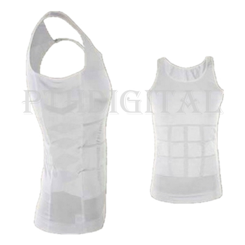 Men Slimming Body Shaper Slim Singlet Vest Belt Slim n ...